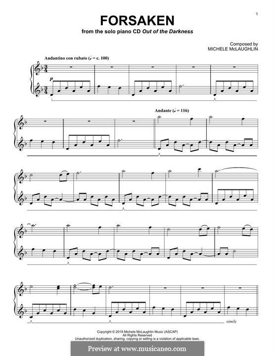 Forsaken: For piano by Michele McLaughlin