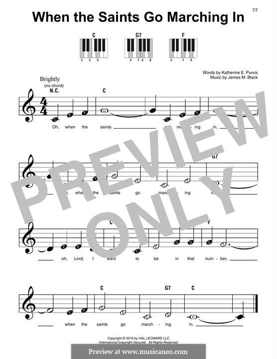 When the Saints Go Marching In: For piano by James Milton Black