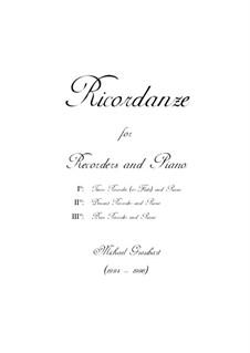 Ricordanze: Score by Michael Graubart