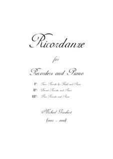 Ricordanze: Recorder solo part by Michael Graubart