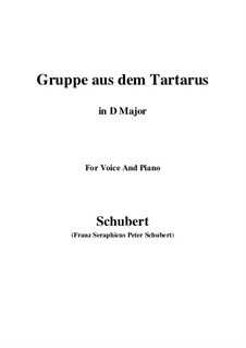 Gruppe aus dem Tartarus (Group from Hades), D.583 Op.24 No.1: For voice and piano (D Major) by Franz Schubert