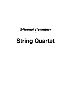 String Quartet: Parts by Michael Graubart