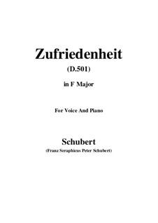 Zufriedenheit (Contentment), D.501: F Major by Franz Schubert