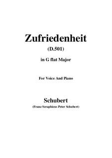 Zufriedenheit (Contentment), D.501: G flat Major by Franz Schubert