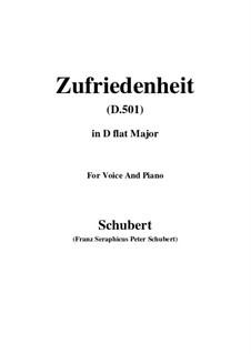Zufriedenheit (Contentment), D.501: D flat Major by Franz Schubert