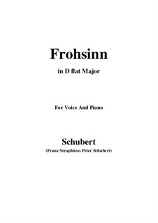 Frohsinn (Cheerfulness), D.520: D flat Major by Franz Schubert