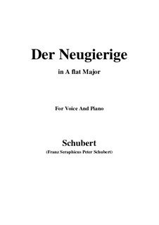 No.6 Der Neugierige (The Inquisitive One): For voice and piano (A flat Major) by Franz Schubert