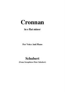 Cronnan, D.282: E flat minor by Franz Schubert