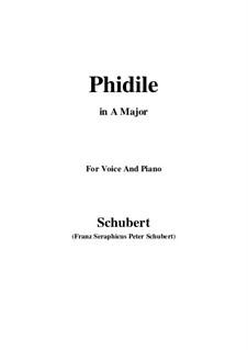 Phidile, D.500: A Major by Franz Schubert