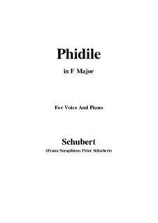 Phidile, D.500: F Major by Franz Schubert