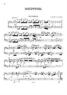 Quintet for Piano and Winds in E Flat Major, Op.16: Version for two pianos eight hands – piano II part by Ludwig van Beethoven