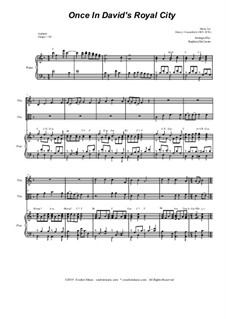 Once in Royal David's City: Duet for violin, viola and piano by Henry John Gauntlett