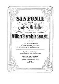 Symphony in G Minor, Op.43: Symphony in G Minor by William Sterndale Bennett