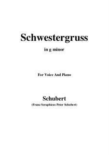 Schwestergruss (Sister's Greeting), D.762: G minor by Franz Schubert