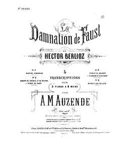The Damnation of Faust, H.111 Op.24: Choir of Soldiers, for two pianos eight hands – piano I part by Hector Berlioz