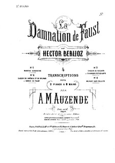 The Damnation of Faust, H.111 Op.24: Choir of Soldiers, for two pianos eight hands – piano II part by Hector Berlioz