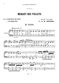 The Damnation of Faust, H.111 Op.24: Menuet des Follets, for two pianos eight hands – piano II part by Hector Berlioz