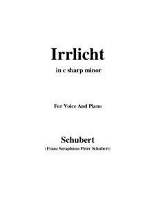 No.9 Irrlicht (Will o' the Wisp): For voice and piano (c sharp minor) by Franz Schubert