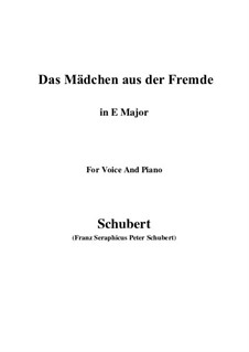 Das Mädchen aus der Fremde (The Maiden from a Strange Land), D.252: E Major by Franz Schubert
