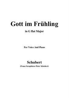 Gott im Frühlinge (God in Spring), D.448: G flat Major by Franz Schubert