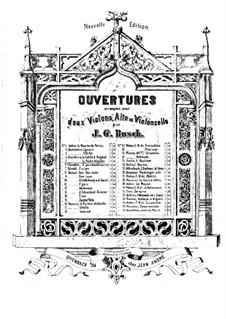 La dame blanche (White Lady): Overture, for string quartet – violin I part by Adrien Boieldieu