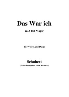 Das war ich (That was I), D.174: A flat Major by Franz Schubert