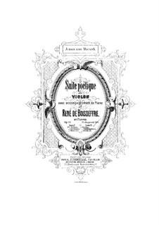Poetic Suite for Violin and Piano, Op.19: Movements No.2-4 – score by René de Boisdeffre