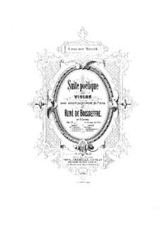 Poetic Suite for Violin and Piano, Op.19: Movements No.1-3 – score by René de Boisdeffre