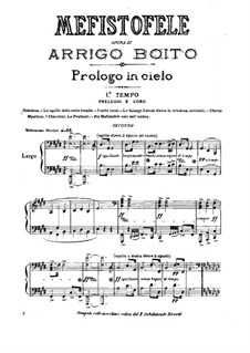Mefistofele: Version for piano four hands by Arrigo Boito