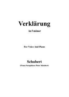 Verklärung (Transfiguration), D.59: F minor by Franz Schubert