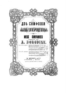 Symphony No.2 in B Minor: For two pianos four hands – piano II part by Alexander Borodin