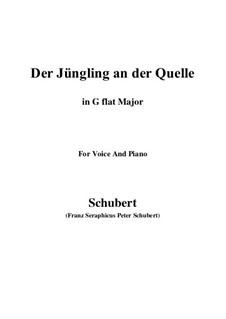 The Youth by the Spring, D.300: G flat Major by Franz Schubert