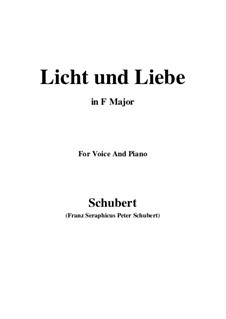 Licht und Liebe (Light and Love), D.352: F Major by Franz Schubert