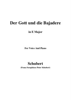 Der Gott und die Bajadere (The God and the Dancing-Girl), D.254: E Major by Franz Schubert