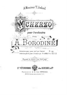 Scherzo in A Flat Major: For piano four hands by Alexander Borodin