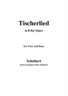 Tischlerlied (Carpenter's Song), D.274: B flat Major by Franz Schubert