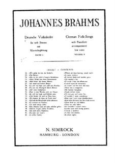 German Folk Songs, WoO 33: Volume II by Johannes Brahms