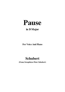 No.12 Pause (Interlude): For voice and piano (D Major) by Franz Schubert