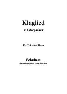 Klaglied (Lament), D.23 Op.131 No.3: F sharp minor by Franz Schubert