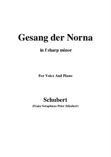 Gesang der Norna (Norna's Song), D.831 Op.85 No.2: F sharp minor by Franz Schubert