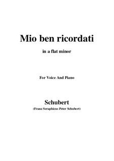 Mio ben ricordati: A flat minor by Franz Schubert