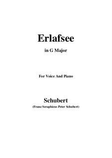 Erlafsee (Lake Erlaf), D.586 Op.8 No.3: For voice and piano (G Major) by Franz Schubert