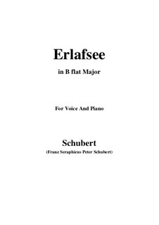 Erlafsee (Lake Erlaf), D.586 Op.8 No.3: For voice and piano (B flat Major) by Franz Schubert
