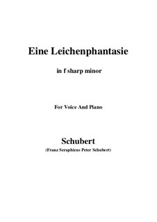 Eine Leichenphantasie, D.7: F sharp minor by Franz Schubert
