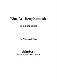 Eine Leichenphantasie, D.7: C sharp minor by Franz Schubert
