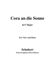 Cora an die Sonne, D.263: F Major by Franz Schubert