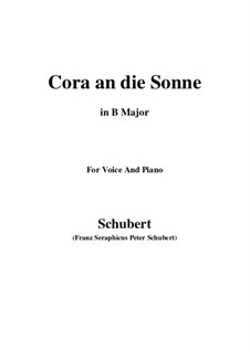 Cora an die Sonne, D.263: B Major by Franz Schubert