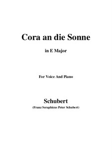Cora an die Sonne, D.263: E Major by Franz Schubert