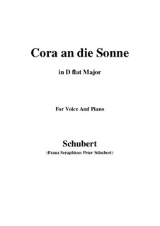 Cora an die Sonne, D.263: D flat Major by Franz Schubert