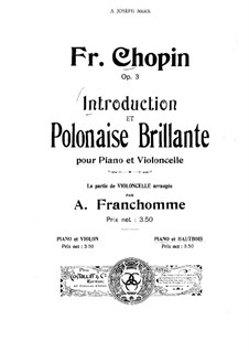 Introduction and Polonaise Brilliant in C Major, Op.3: For oboe and piano – oboe part by Frédéric Chopin